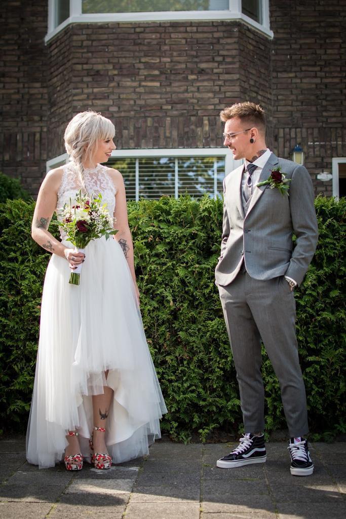 Helemaal de blitz: stoer en catchy trouwpak