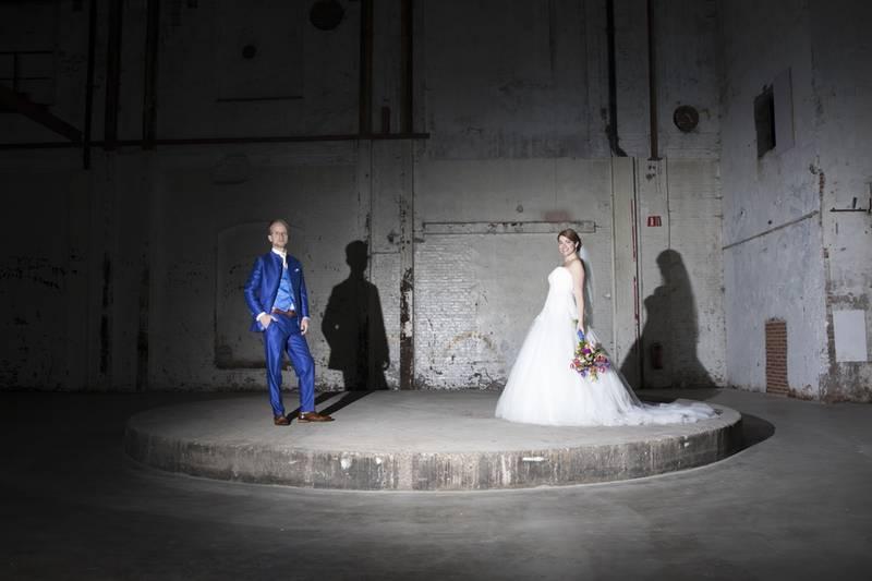 Wel een blauw trouwpak, maar anders