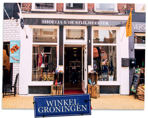 De winkel van de Stijlmeester & Shoelia in Groningen