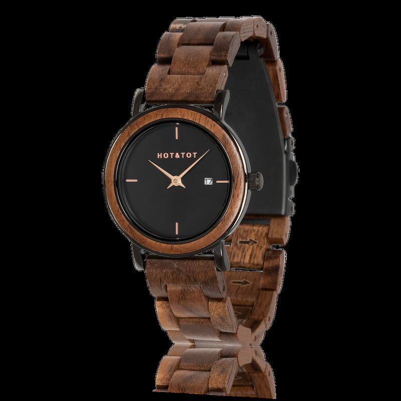 Houten horloge Nyx