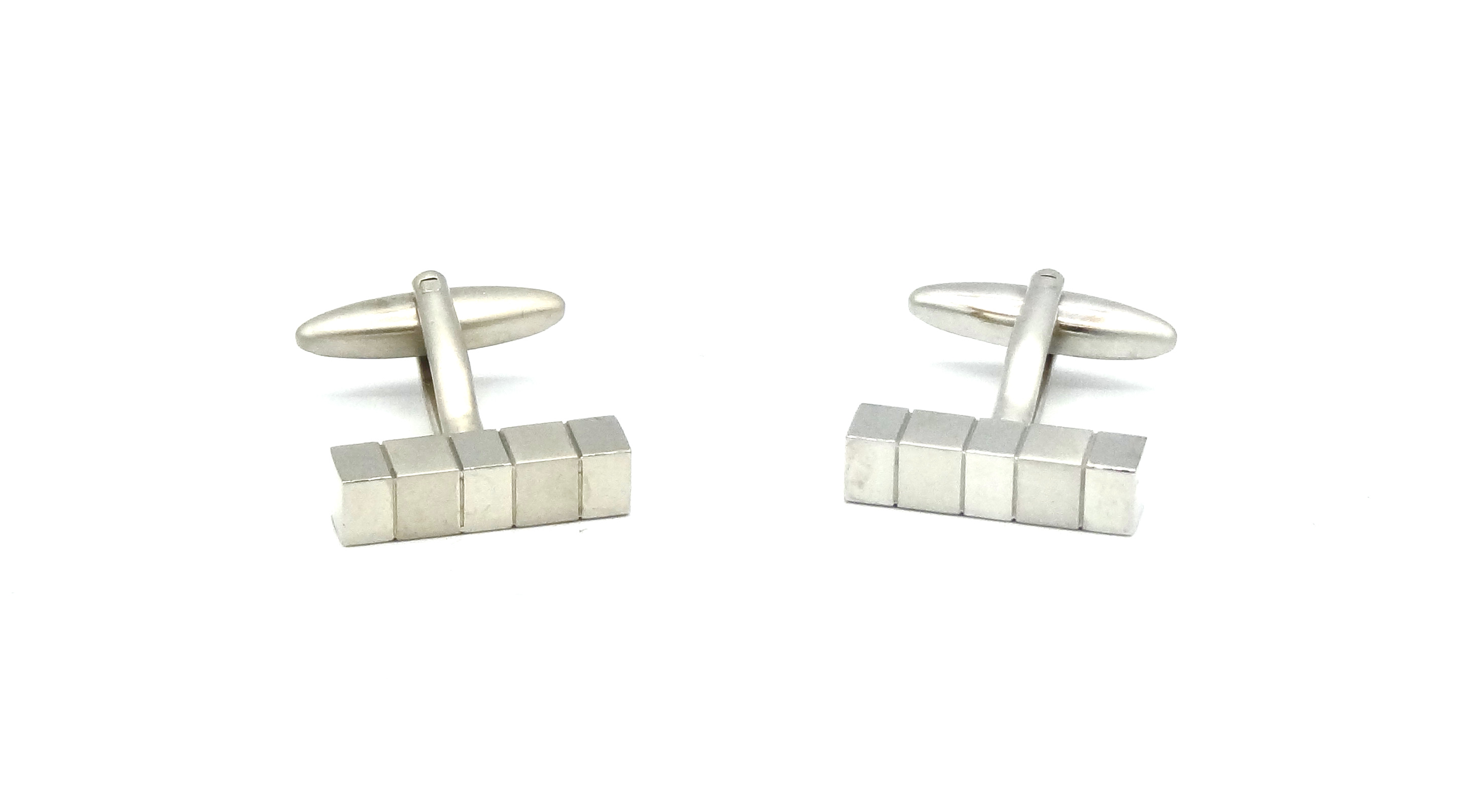 Manchetknopen Zilveren blokjes