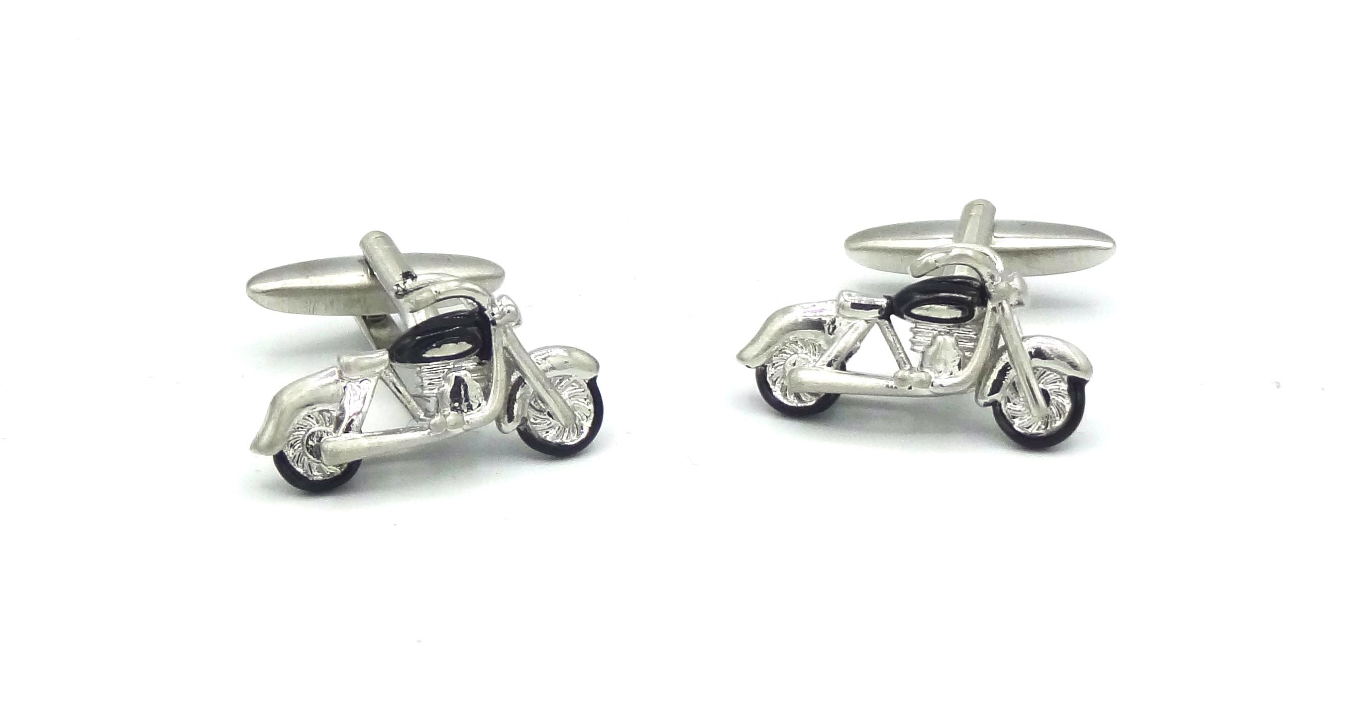 Manchetknopen Zilveren motor