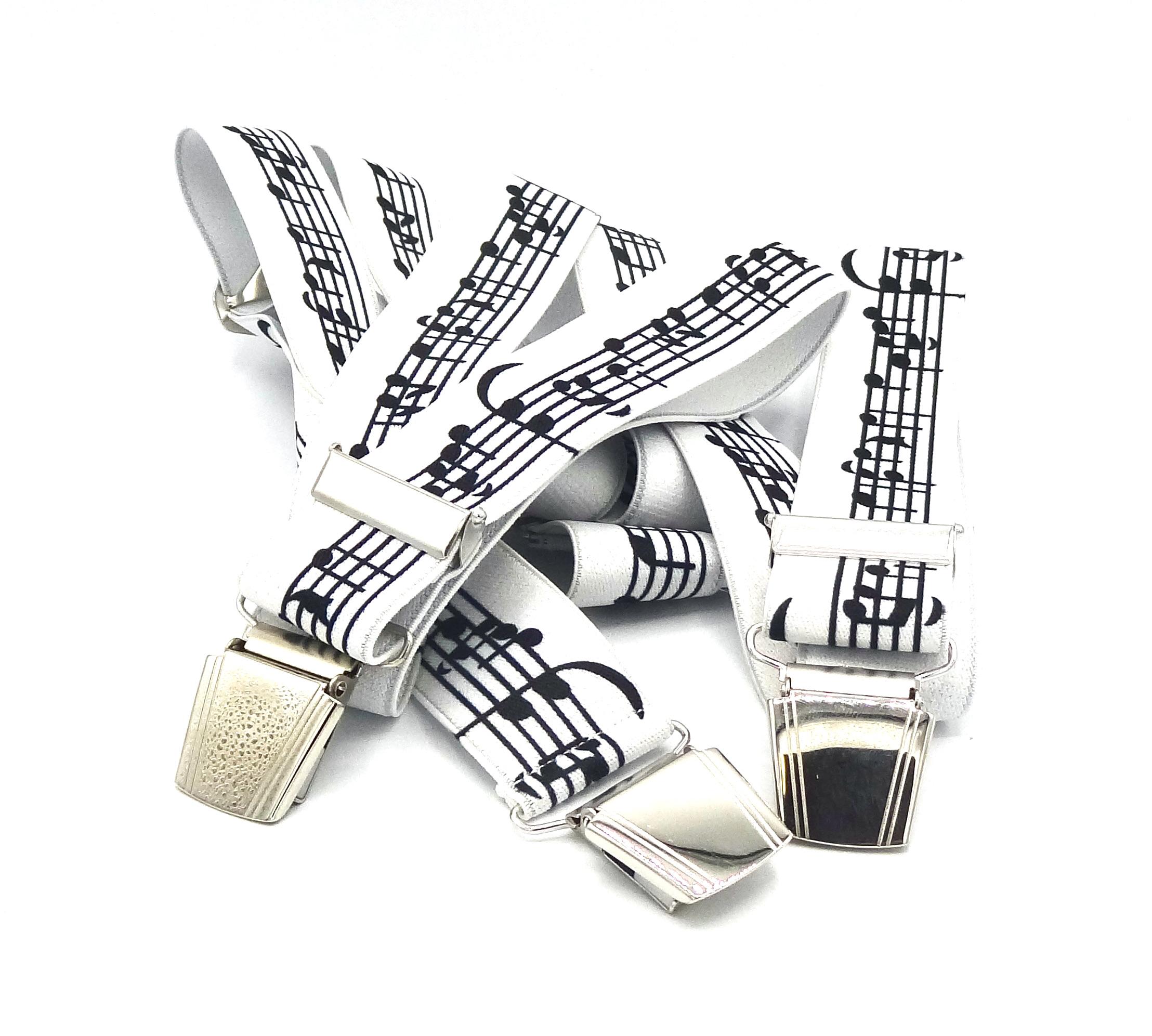 Bretels met muzieknoten