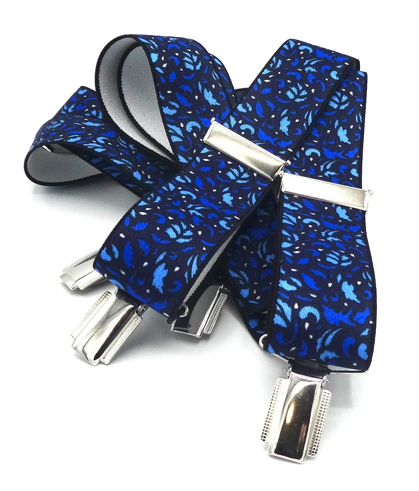Bretels Blauwe blaadjes