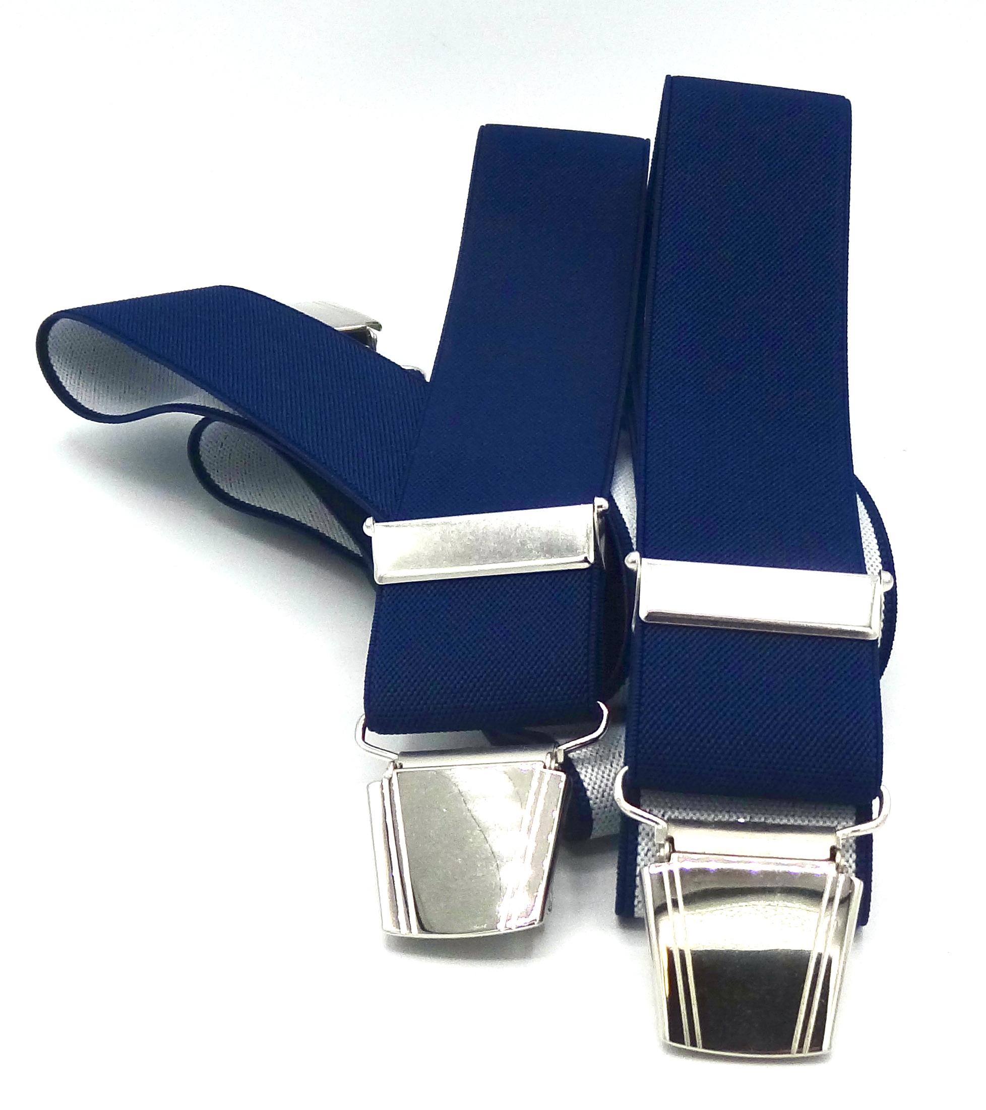 Bretels Blauw effen