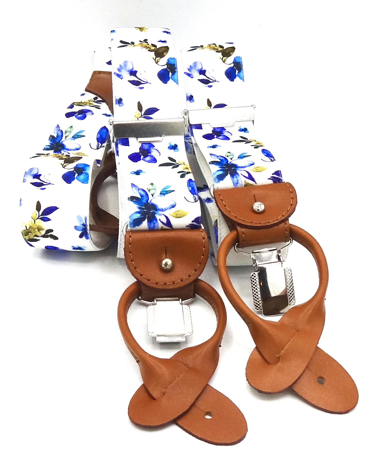 Bretels Bloemen Blauw