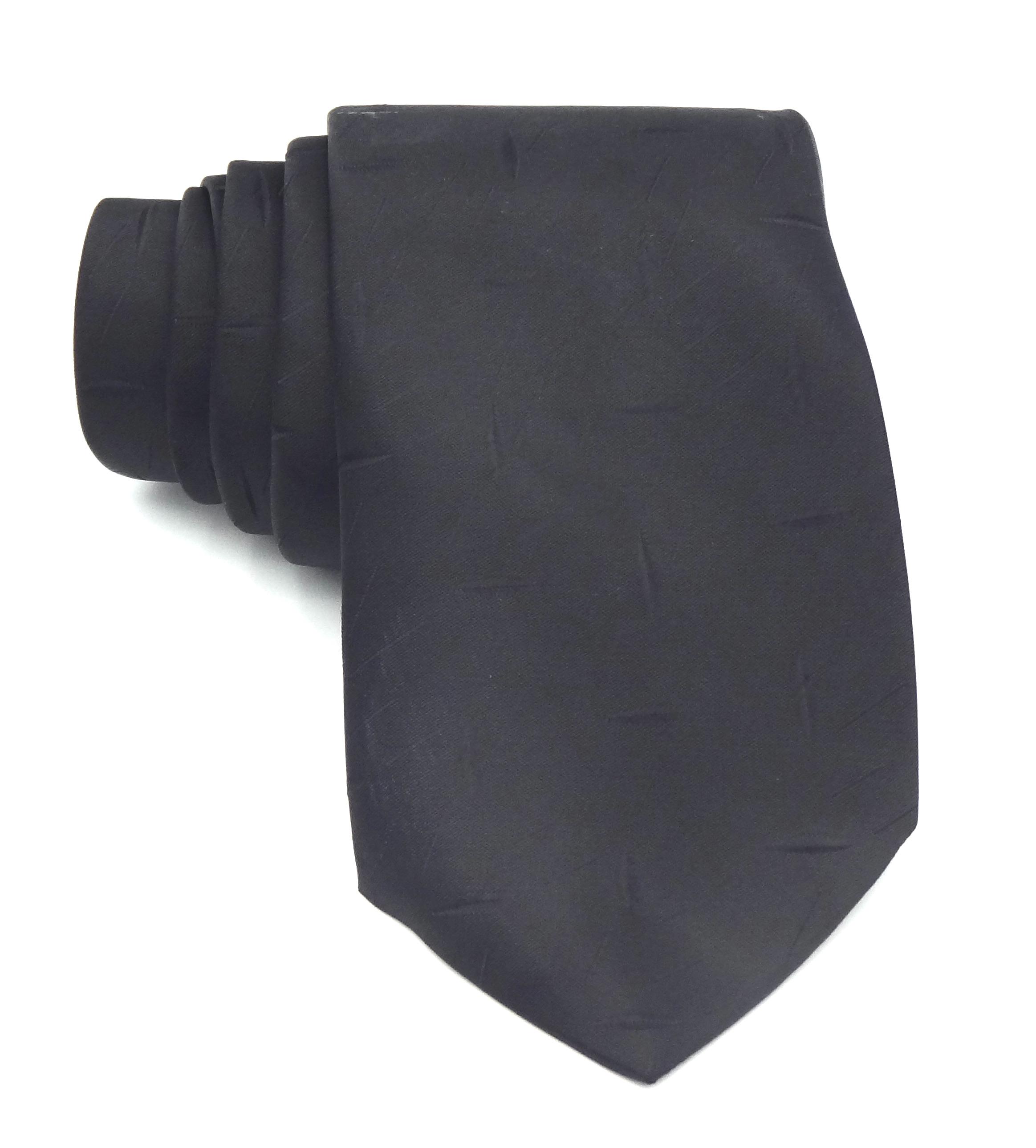 Stropdas zwart met kleine streep