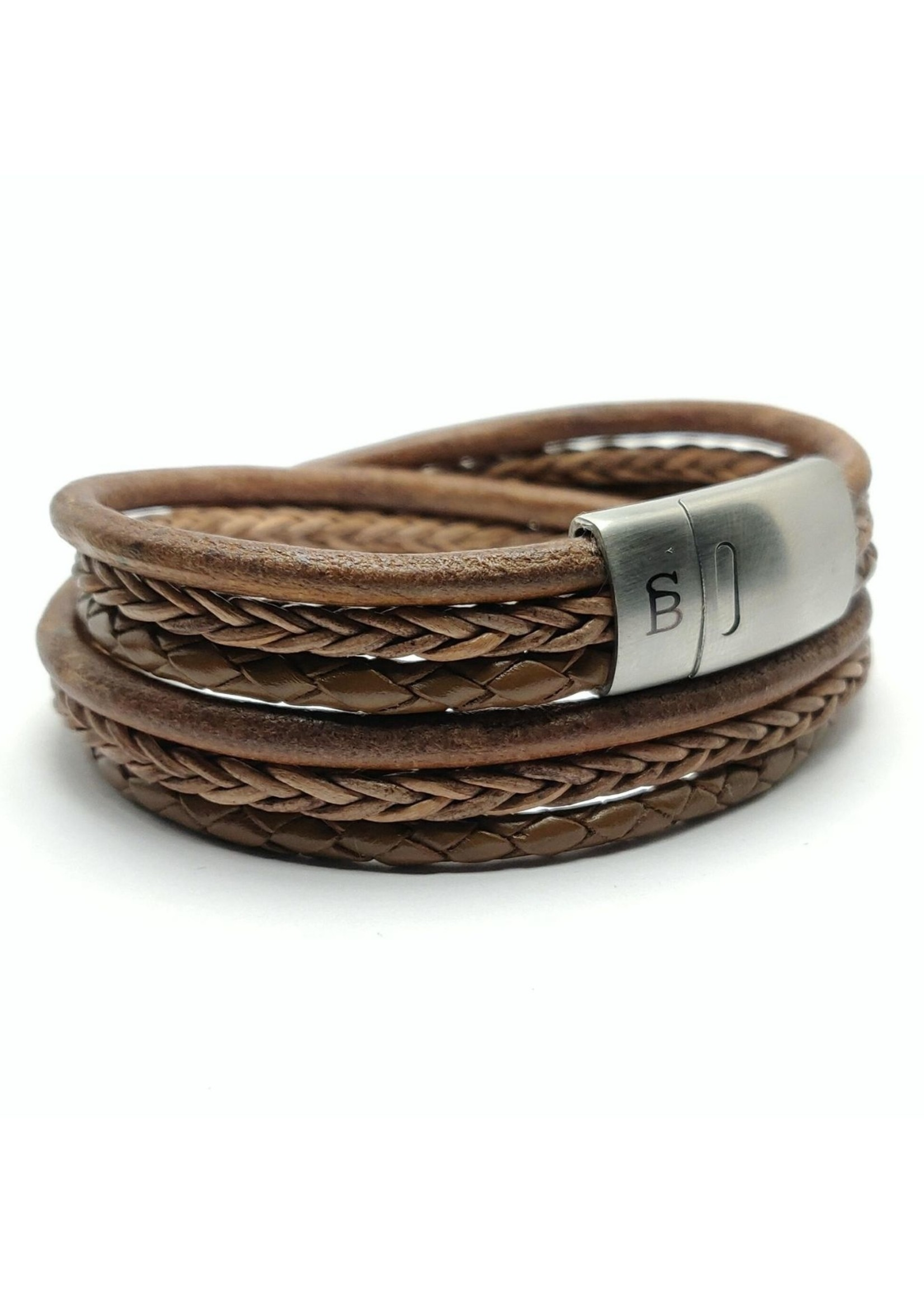 Leren armband Bonacci Taupe